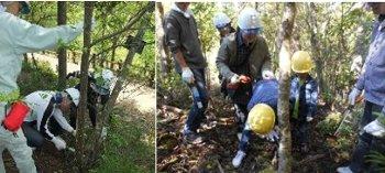 森林整備体験の様子