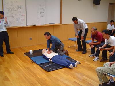 救急法の実習