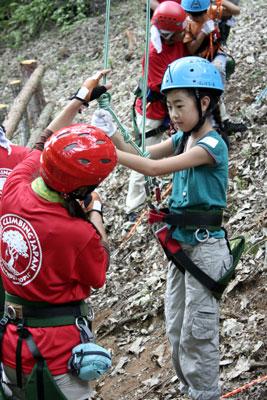 登り方の説明をしっかり聞きます