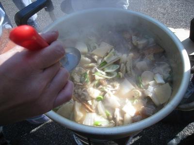 絶品! 猪肉入り芋煮