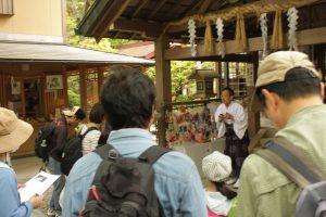 伏見神宝神社で中田宮司からのお話